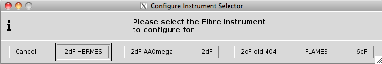 Configure Instrument Selection