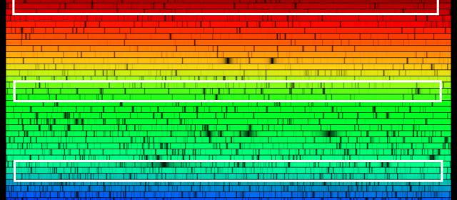 HERMES, the new spectrograph being built at the AAO, uses volume phase holographic (VPH) gratings to provide various optimised spectra in blue, green and red light and a fourth band in infra-red light. HERMES spectra allows astronomers to study the chemic